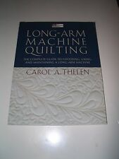 """NEW Long-Arm Machine Quilting """"Print on Demand Edition"""" - Carol Thelen"""