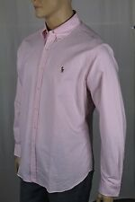 Ralph Lauren Pink Cream Striped Classic Dress Shirt Multi Color Pony NWT