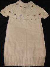 Gymboree EQUESTRIAN CLUB Sweater Dress with Floral Embroidery NWT 5 6 7