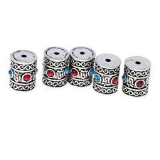5pcs Tibetan Silver Carving Tube Spacer Bead Charm Jewelry Finding Craft DIY