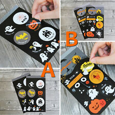 60X Halloween Pumpkin Sticker Labels Sticky Party Cello Gift Bags Box Decoration