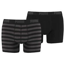 Puma Mens Stripe 1515 Boxer Shorts Briefs 2 Pack Black Grey 200 S M L XL Gift