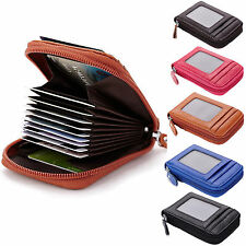 Mens/Womens Genuine Leather Wallet ID Credit Cards Holder Organizer Purse E