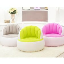 Lovely Shell Inflatable Sofa Baby Adult Living Room Chair Folding Comfy PVC Sofa