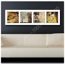 Synthetic CANVAS +GIFT Water Serpents Tree Life Kiss Collage 4 Gustav Klimt