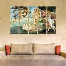 Synthetic CANVAS +GIFT The Birth Of Venus Sandro Botticelli 5 Panels Painting