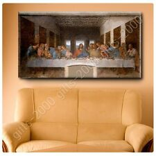 Synthetic CANVAS +GIFT The Last Supper Leonardo Da Vinci Paints Poster Giclee