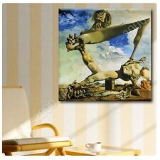 Synthetic CANVAS +GIFT Soft Construction With Boiled Beans Salvador Dali