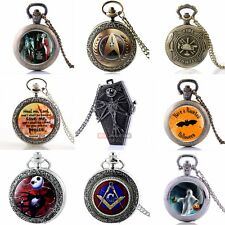 Bronze Retro New Necklace Pocket Antique Watch Quartz Pendant Steampunk Vintage