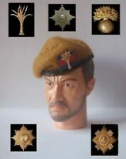 1/6 British Coldsteam, Grenadier, Irish, Scots & Welsh Guards beret and badge