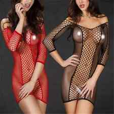 Charm Women's Sexy Lingerie Nightwear Underwear Babydoll Sleepwear Fishnet Dress