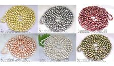 """X0125 beautiful 80"""" 12mm baroque freshwater pearl necklace"""