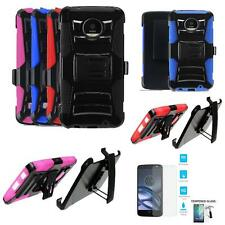 Phone Case For Motorola Moto Z Droid Tempered Class Screen Holster Cover