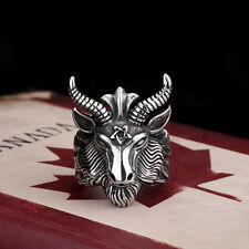 Unique Mens Jewelry Goat 316L Stainless Steel Ring HB200 Sz 7-13