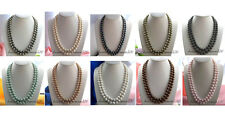 "X0161 long 50"" 12mm round south sea shell pearl necklace"