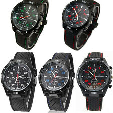 Black Fashion Stainless Steel Luxury Sport Analog Quartz Mens Wrist Watch New