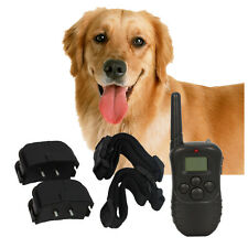 320 Yard 100LV Level Shock Vibra Remote LCD Pet Dog Training Collar 1 Dog 2 Dog