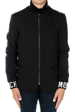 MOSCHINO COUTURE New Men black Jacket Wool Blend Zipped Blazer NWT