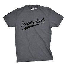 Mens Superdad Funny Awesome Hero Dad Father's Day Family T shirt (Grey)