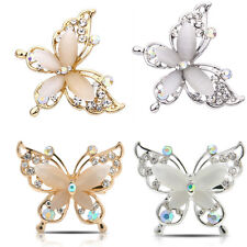 Fashion Women Butterfly Gold/Silver Plated Crystal Rhinestone Brooch Pin Jewelry