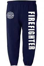 Navy Blue Firefighter sweatpants for men fireman sweats fire fighter pants men's
