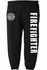 Firefighter sweatpants for men fireman sweats fire fighter pants men's black