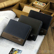 Mens PU Leather Wallet Card Clutch Cente Bifold Purse Pocket Money Clip Pretty