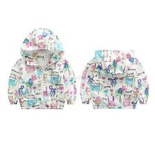 Cute Cartoon Kids Boy Girls Animals Printed Jacket Coat Casual Hooded Outerwear