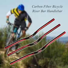 MTB Bike Bicycle Full Carbon Fiber Handlebar Riser Flat Handle Bar 25.4mm P0T7