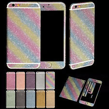 DIY Bling Full Body Front&Back Matte Decal Glitter Film Sticker Protective Cover