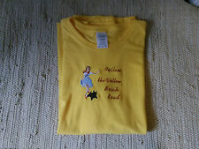 Wizard of Oz Cairn Terrier Ladies Yellow Tee Brick Road