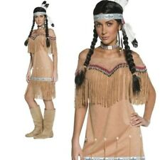 Indian Lady Authentic Red Indians Costume Ladies Wild West Fancy Dress Outfit