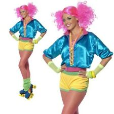 SKATER GIRL LADIES 1980S FANCY DRESS COSTUME 80S OUTFIT ROLLER DISCO