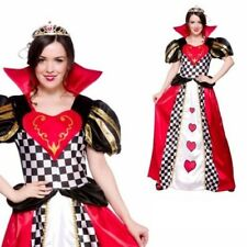 Fairytale Queen Of Hearts Costume Ladies Book Week Fancy Dress Outfit 6/24