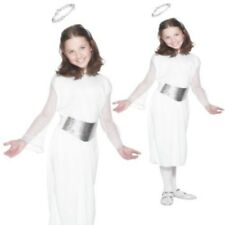 Angel Nativity Costume Girls White School Play Angelic Fancy Dress Outfit