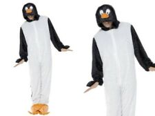 Adults Penguin Costume Plush Animal Ladies Mens Fancy Dress Outfit