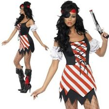 Adult Pirate Costume Pirates Sexy Buccaneer Ladies Fancy Dress Outfit