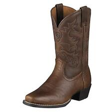 CHILDREN'S/YOUTH ARIAT LEGEND BROWN OILED ROWDY WESTERN BOOTS 10002020