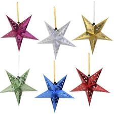 10x Star Paper Lantern Lampshade Ceiling Light Shade Holder Party Xmas Decor