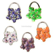 Begonia Flower Foldable Purse Bag Hanger Handbag Hook Holder Gift 5 Colors