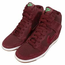 Wmns Nike Dunk Sky Hi Essential Red Brown Womens Fashion Wedge Shoes 644877-603