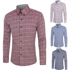 New Mens Luxury Stylish Long Sleeve Dress Shirt Slim Fit Shirts Men Shirts Tops