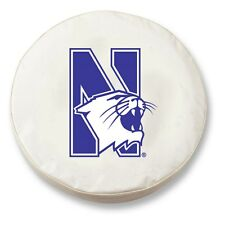 Northwestern Wildcats HBS White Vinyl Fitted Spare Car Tire Cover