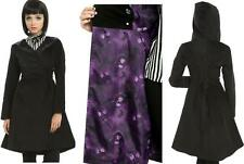 S M L XL Disney Nightmare Before Christmas Black Corset Trench Punk Gothic COAT