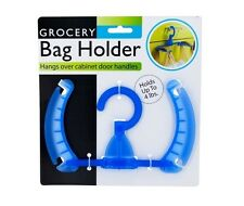 Grocery Bag Holder Ideal For Holding Trash Bags & Recycling Plastic Colors Blue