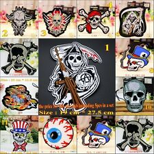 Wholesale 10pcs/set Skull Sew On Embroidered Patches/Badges Applique Motif