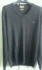 Black jumper pure wool L william hunt