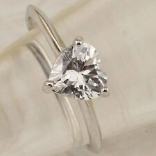 Size 6 7 8 9 10 Simple Nice White Heart CZ Gems Jewelry Gold Filled Ring R2545