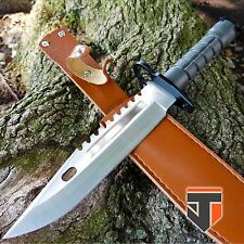 """13"""" TACTICAL SURVIVAL Bayonet Military COMBAT Fixed Blade Hunting Knife BOWIE"""