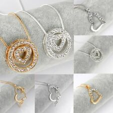 Girlfriend Lover Key Heart Letter Pendant Crystal Necklace Valentine's day Gift